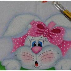 Pintura em Tecido: Coelha da Páscoa