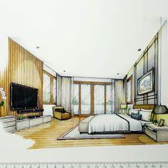 Master Bedroom #sketch #handdrawing #handsketch #perspective #interior #design #interiordesign #interiorsketch #arquitetapage #archsketcher #arquisemteta #papodearquiteto #arch_more #arch_cad #arch_grap #architecture_se7en #alvindrafting #art #flarchitect #arquinews #tamainteriordesign #tamasketch