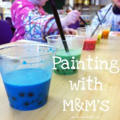 Painting with M five senses lesson, easily adapted to many other topics school