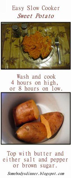Easy Slow Cooker Sweet Potato