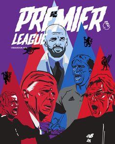 Premier League Arsene Wenger, English Premier League, Vector Art, Soccer, Comic Books, Football, Illustrations, Comics, Sports