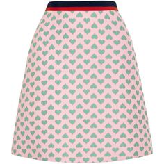 GUCCI FOR NET-A-PORTER Jacquard mini skirt Jade and pastel-pink jacquard Concealed hook and zip fastening at side polyester, polyamide, silk; lining: acetate, silk Dry clean Made in Italy As seen in The EDIT magazine A Line Mini Skirt, A Line Skirts, Short Skirts, Mini Skirts, Pastel Skirt, Kpop Outfits, Printed Skirts, Dress To Impress, Polyvore Fashion