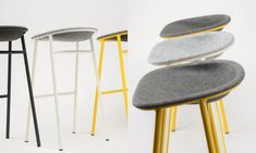 The seat of the LJ series by Laurens van Wieringen for De Vorm is made out of recycled PET bottles, the design of the seat brings back many traditional production steps to one smart 3D pressing technique. PET Felt is recycled, recyclable and offers sound dampening properties and great comfort.
