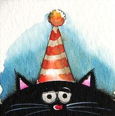 Fat Cat Birthday hat! - Lucia Stewart