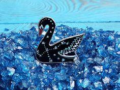Stained Glass Brooch Star Swan Glass Art Jewelry