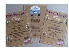 Campervan wedding invitations