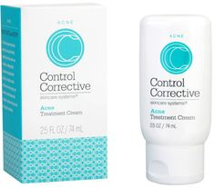 Acne Treatment Cream is a healing and balancing lotion ideal for those suffering from mild to severe acne.  Control Corrective Acne Treatment Cream is a concentrated hydrating cream ideal for mild to severe acne. A 3% salicylic and lactic acid combination decongests and exfoliates without making skin dry or irritated. #acne #skinhealth