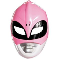 Pink Ranger Vacuform Mask Adult Halloween Accessory