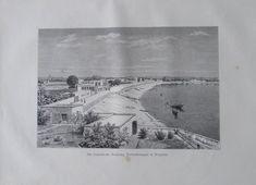 aus 1880 Die französische Besitzung Tschandermagar in Bengalen, Indien - Druck