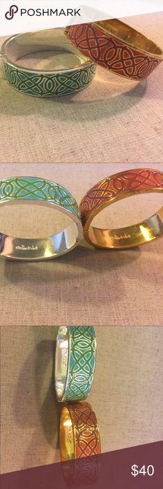 Stella and Dot Eleanor Bracelet Set Stella and Dot Eleanor Bracelet Set. One teal and silver one pink and gold. Stella & Dot Jewelry Bracelets