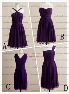 Hey, I found this really awesome Etsy listing at https://www.etsy.com/listing/118316062/purple-bridesmaid-dresses-short-prom