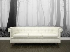 "Peel & Stick ""Forest in fog Wall Mural"" from Eazy Wallz"