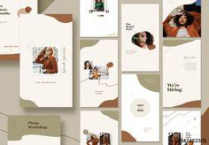 Stock template of 20 Organic Fashion Social Media Post Layouts. Search more similar templates at Adobe Stock Graphic Design Layouts, Layout Design, Web Design, Web Studio, Business Logo, Presentation Templates, Instagram Story, Adobe, Branding