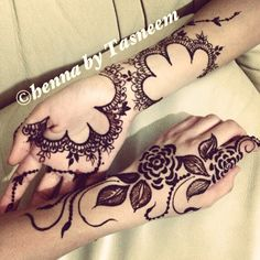 Two different arabic designs