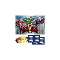 Avengers party game contains 1 x plastic game board, 2 x sticker sheets and paper blindfold for 8 children Fun Games, Party Games, Party Party, Captain America Birthday, Iron Man Suit, The Little Mermaid, Hulk, Thor, Board Games
