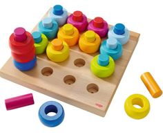 Rainbow pegging game for toddlers. So wonderful.