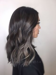 Image result for ashy brown highlights brunette