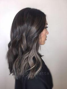 Image result for ashy brown highlights brunette