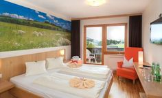 Almfrieden – Hotel & Romantikchalet in der Ramsau Curtains, Furniture, Home Decor, Double Room, Pet Dogs, Pets, Homemade Home Decor, Home Furnishings, Interior Design