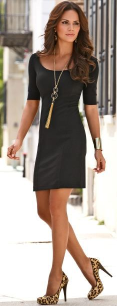 The black dress, perfect for every occasion! Wish I could look like that just 10% of the time.