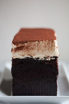 Simple Chocolate Cake with Vietnamese coffee whipped frosting (uses sweetened condensed milk) Cakes To Make, How To Make Cake, Sweet Recipes, Cake Recipes, Eat Dessert First, Let Them Eat Cake, Yummy Cakes, Cupcake Cakes, Cupcakes