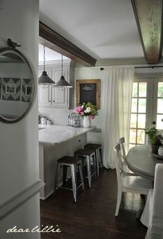 Bar Stools - Our Kitchen Makeover (Before and Afters and a Full Source List) by Dear Lillie
