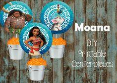 Moana Centerpieces, Moana Birthday Party Supplies, Moana Disney