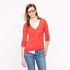 COLLECTION CASHMERE V-NECK SWEATER: So many Beautiful colors to choose from!!!
