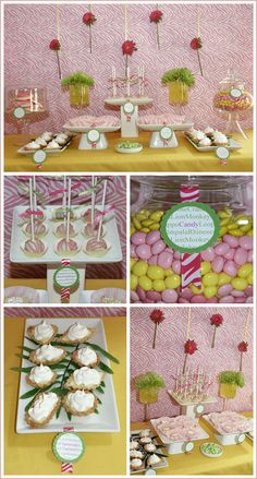 a chic safari dessert table for a baby shower, bridal shower or girls night...