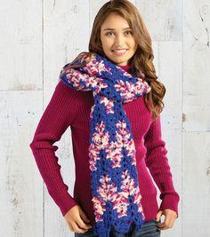 Rainbow Classic Crochet Scarf