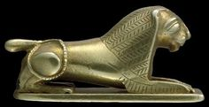 Gold Amulet of a couchant Lion 1650-1550 BC 17th Dynasty 2nd Intermediate Period (Source: The British Museum)