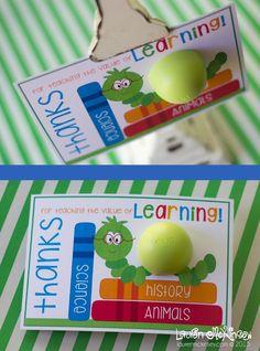EOS lip balm teacher appreciation printable cards :: Lauren McKinse