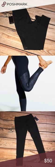 """NWT's Calia Black Essential Embossed Tights NWT's,Calia by Carrie Underwood tights. Size Small, caviar black. Fitted Mid-rise tights complete with a wide, supportive waistband. Ruching at the hem and embossed print side panels add pretty detail for a look that transitions from gym to street. Wicking """"body breeze"""" technology pulls moisture away from the skin & Antimicrobial """"body free"""" technology inhibits odor-causing bacteria and with an incredibly resilient application, lasts wear after…"""