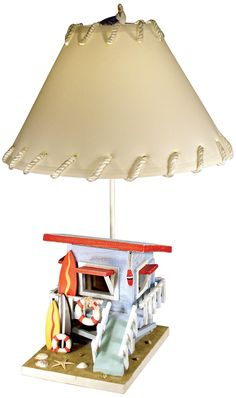 lifeguard chair lamp surfers can surf safely in coastal style with this surfboard themed. Black Bedroom Furniture Sets. Home Design Ideas