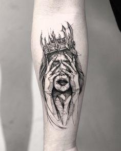 first tattoo ideas Angel Of Death Tattoo, Demon Tattoo, Warrior Tattoos, Badass Tattoos, Key Tattoos, Mini Tattoos, Forearm Tattoos, Body Art Tattoos, Sleeve Tattoos