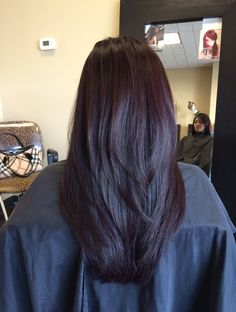 Concave long layers + Aveda color that I did :)