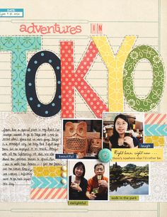 Adventures in Tokyo {Studio Calico August Kit} - Club CK - The Online Community and Scrapbook Club from Creating Keepsakes Travel Scrapbook Pages, Scrapbook Titles, Disney Scrapbook, Scrapbook Page Layouts, Scrapbook Cards, Scrapbook Photos, Vacation Scrapbook, Scrapbooking Ideas, Creating Keepsakes