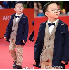 Daehan looks like a young CEO as he walks on the red carpet Cute Kids, Cute Babies, Baby Kids, Song Il Gook, Superman Kids, Song Daehan, Song Triplets, Walk On, Animals For Kids