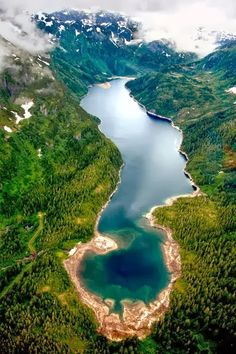 Beautiful Lake in Juneau, Alaska, United States