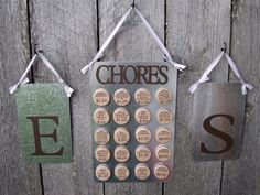 Custom Chore Chart System by MoreThanAMemoryAK on Etsy, $42.00...I know...Max isn't getting paid for chores, yet.  He's in training right now!  ;o)