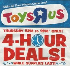 The 2013 Toys R Us Black Friday ad has been leaked! SO many deals and this site even has some coupons to make them even better!