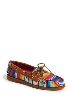Sperry Top-Sider® 'Authentic Original' Leather Boat Shoe available at #Nordstrom. Red Serape.