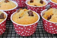 Chocolate Chip Muffins--perfect as a snack, dessert or special breakfast treat! | Fountain Avenue Kitchen