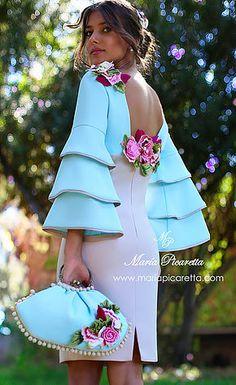 Vestidos de Cóctel Simple Dresses, Elegant Dresses, Beautiful Dresses, Short Dresses, Girls Dresses, Mode Outfits, Dress Outfits, Fashion Dresses, Fashion Vestidos
