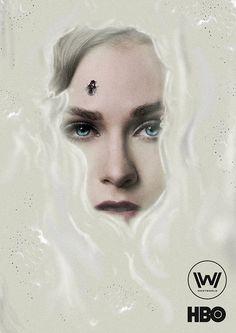 Westworld poster http://messypandas.com  @WestworldHBO #westworld #evanrachelwood #hbo #art #poster #print #tv