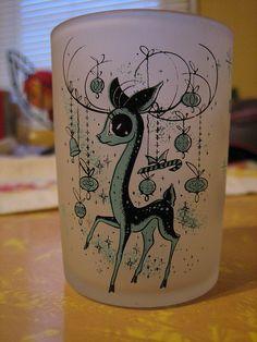 Deer shot glass.