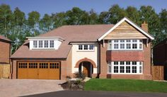 5 bedroom detached house for sale in Lunts Heath Road, Widnes, - Rightmove Detached Garage Designs, Detached House, New Homes For Sale, Property For Sale, Redrow Homes, Selling Your House, Brickwork, Luxurious Bedrooms, Ideal Home