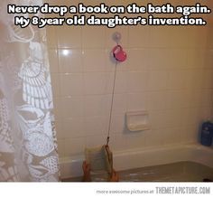 THIS IS BRILLIANT!!! Also pinning because they have the same shower curtain as me but whatever