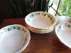 Liberty Ivy Fruit or Sauce Bowls, $23.99/Set of 6 at vintagesister49 on ebay, 6/20/15