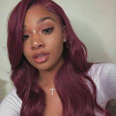 Ombre Dark, Dark Red, Wig Hairstyles, Straight Hairstyles, Colored Weave Hairstyles, Easy Hairstyle, Quick Hairstyles, Bride Hairstyles, Hairstyle Ideas
